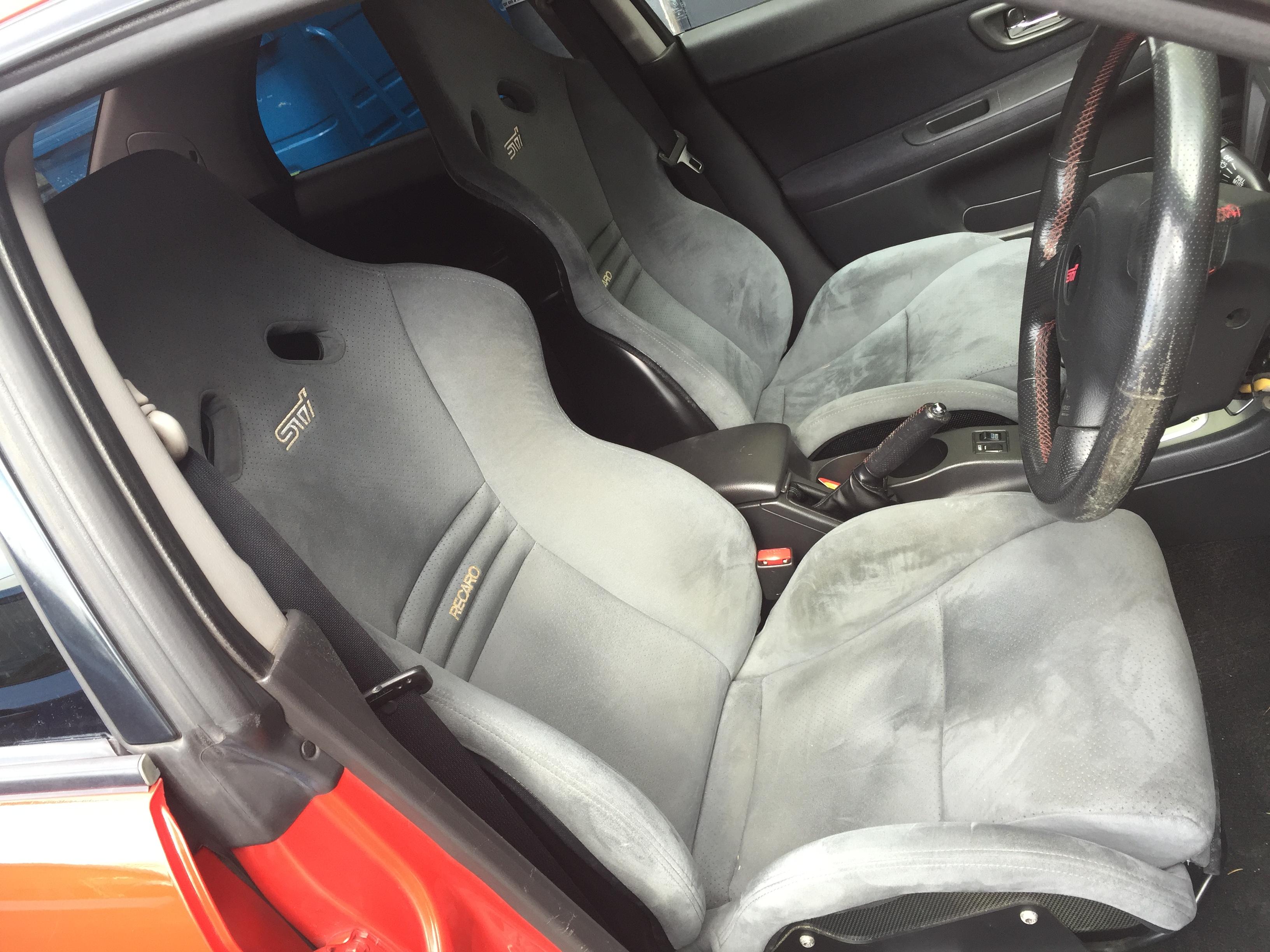 Genuine Impreza Sti S203 carbon Recaro seats