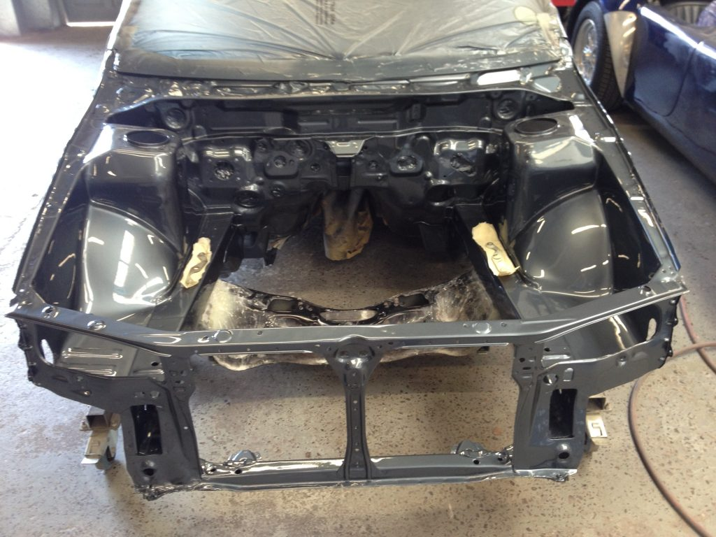 Subaru body shell preparation