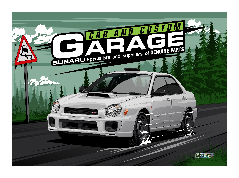 Image of Car and Custom Garage Subaru Forester (SF5) – Stb – STI 2